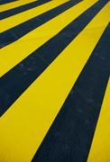 Yellow pedestrian crossing Stock Photos