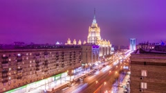 Time Lapse of Moscow Street Stock Footage