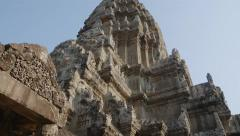 Central tower of Angkor Wat temple of Cambodia Stock Footage