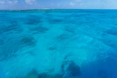 Beautiful Caribbean sea in blue color - stock photo
