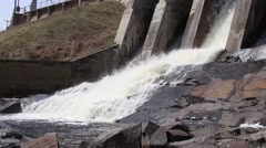 Hydroelectric Dam in Northern Wisconsin Stock Footage