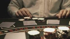Black Jack Card Slow Motion - stock footage