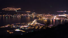Night view of Osoyoos in British Columbia Stock Footage