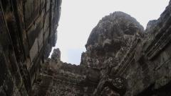 Old temple of Angkor in Cambodia, steadicam shot Stock Footage
