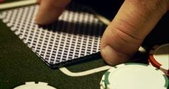 Black Jack Card - stock footage
