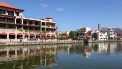 Quay and Casa Del rio Melaka - 5-star Luxury Boutique hotel in Melaka Stock Footage