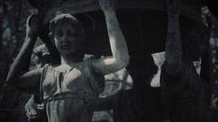 Gothic Fountain 2 | Horror / Goth | Grunge Film FX Stock Footage