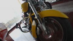 Rare collector's motorbikes, sport bikes, vintage Stock Footage