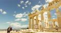 4K Acropolis parthenon site timelapse pillars bright sunny sky 30p Footage