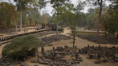 Ruins and old temples of Angkor, Cambodia Stock Footage
