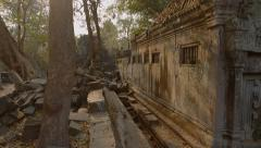 Ruins of the old temple in the jungle Stock Footage