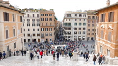 Stock Video Footage of Piazza di Spagna, Roma, Italia. 4K