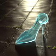 Glass Slipper. - stock illustration