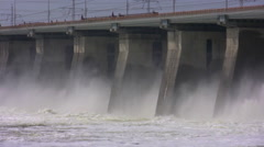 The hydroelectric power station Stock Footage