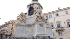Column of the Immaculate Conception. Rome. Italy. 1280x720 - stock footage