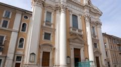 San Carlo al Corso. Rome, Italy. 1280x720 Stock Footage
