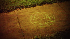 Sigil sidewalk cursed land Stock Footage
