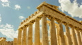 HD Acropolis Temple of parthenon timelapse pillars bright sunny sky 30p HD Footage