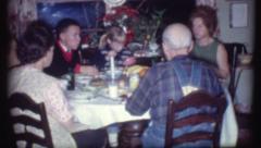 FAMILY DINNER Meal Dinner 1970s Vintage Film Home Movie 8221 Stock Footage