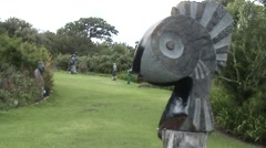 Sculptures in Kirstenbosch garden of CapeTown. Stock Footage