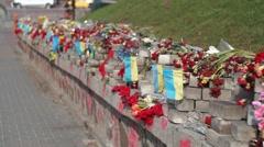 Monument Heavenly Hundred Ukraine Stock Footage