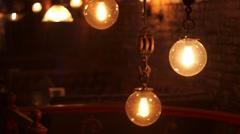 Glower Lamp Stock Footage