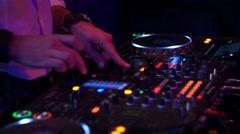 DJ At A Club Set Stock Footage