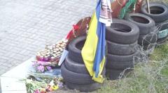 Memorial Monument Heavenly Hundred Ukraine Stock Footage