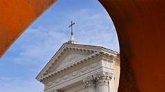 Chiesa di San Rocco. Zoom. Rome, Italy. 4K Stock Footage