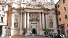 S. Marcello al Corso. Rome, Italy. 1280x720 Stock Footage