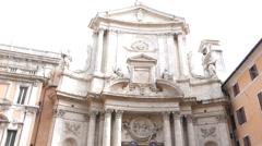 San Marcello al Corso. Rome, Italy Stock Footage