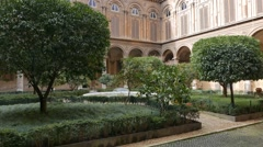 Courtyard Gallery Doria - Pamphili. Rome, Italy. 1280x720 Stock Footage
