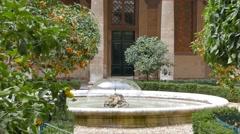 Courtyard Gallery Doria - Pamphili. Zoom. Rome, Italy Stock Footage