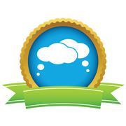 Gold dialog logo Stock Illustration
