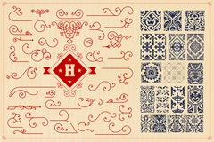 Stock Illustration of Seamless Patterns and accents