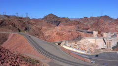 4K UHD Hoover Dam high angle slow zoom in Stock Footage