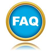 Stock Illustration of Blue faq vector icon