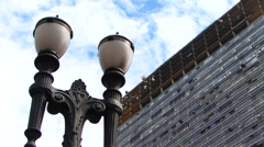 Lamppost in Sao Paulo - stock footage