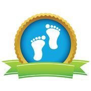 Gold foot steps logo Piirros
