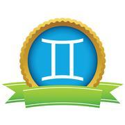 Gold Gemini logo Stock Illustration
