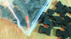 plastic snap buckles - stock footage