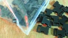 Plastic snap buckles Stock Footage