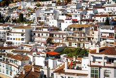 Charming little white village of Mijas. Costa del Sol, Andalusia. Spain Stock Photos
