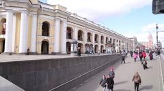 Saint Petersburg, Nevsky Prospekt, Gostiny Dvor metro - stock footage