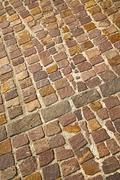 brick in   varano borghi   street lombardy italy  varese - stock photo