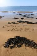 dont worry beach - stock photo