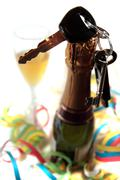 do not celebrate and drive with bubbly - stock photo