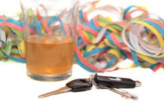keys whiskey party - stock photo