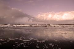 purple haze storm - stock photo