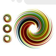 Colorful abstract icon set. Dynamic flow illustration - stock illustration